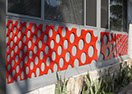 Photo of laser cut custom 'Dotty' design © Urban Design Systems