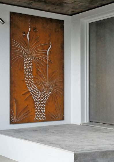 Urban Design Systems Grass Tree Decorative Laser Cut